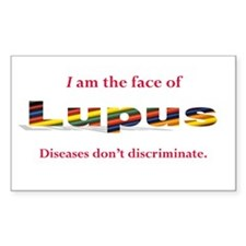 I am the face of Lupus sticker