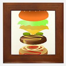 hamburger art Framed Tile