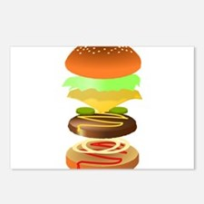 hamburger art Postcards (Package of 8)