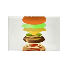 hamburger art Magnets