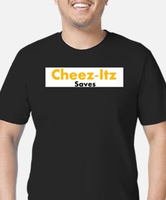 Unique Cheez it Men's Fitted T-Shirt (dark)