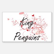 King Penguins Heart Design Decal