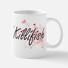 Killifish Heart Design Mugs