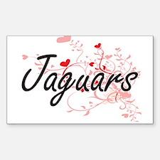 Jaguars Heart Design Decal