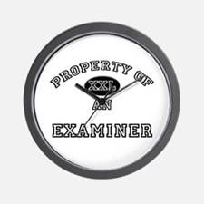 Property of an Examiner Wall Clock