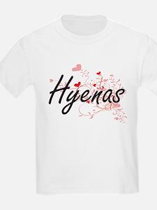 Hyenas Heart Design T-Shirt