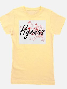 Hyenas Heart Design Girl's Tee