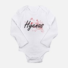 Hyenas Heart Design Body Suit