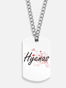 Hyenas Heart Design Dog Tags