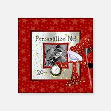 "New Year Custom Photo Square Sticker 3"" x 3"""