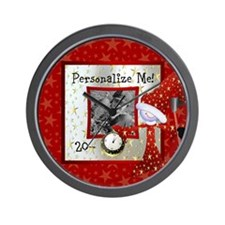 New Year Custom Photo Wall Clock