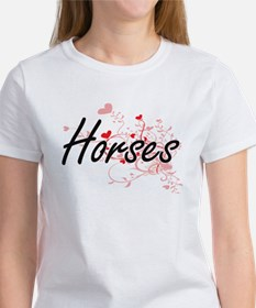 Horses Heart Design T-Shirt