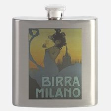 Birra Milano Vintage Advertisement Flask