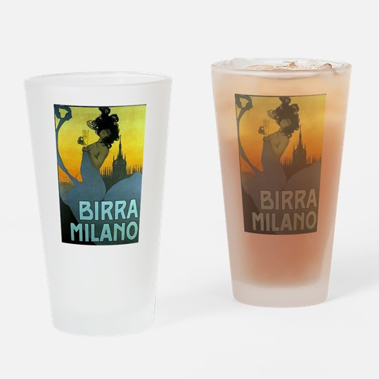 Birra Milano Vintage Advertisement Drinking Glass