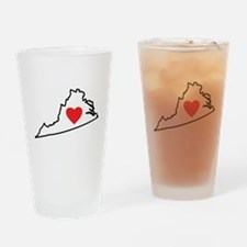 I Love Virginia Drinking Glass