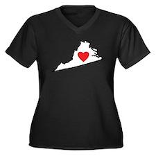 I Love Virgi Women's Plus Size V-Neck Dark T-Shirt