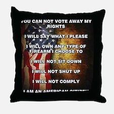 I Am An American Citizen Throw Pillow