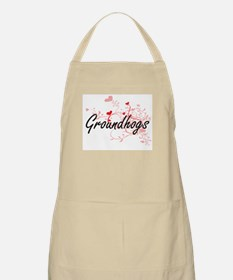 Groundhogs Heart Design Apron