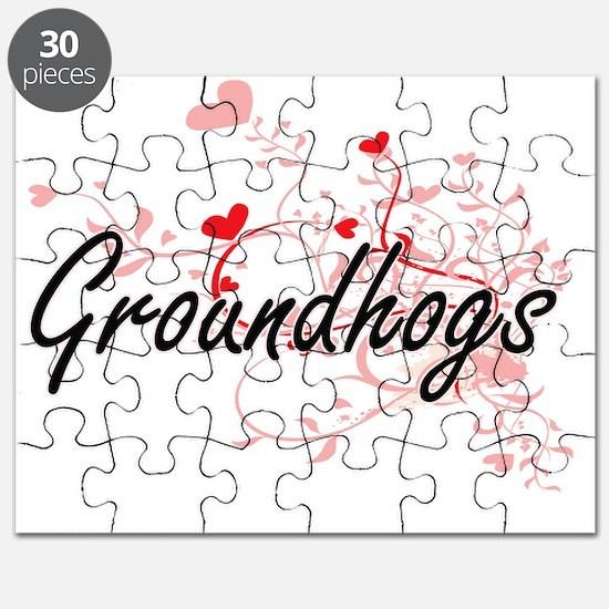 Groundhogs Heart Design Puzzle