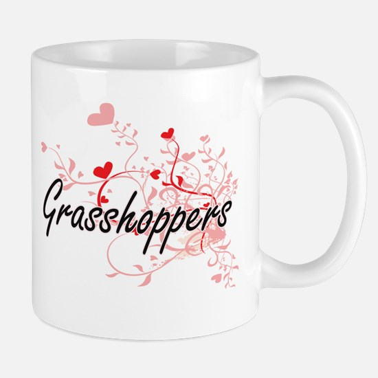 Grasshoppers Heart Design Mugs