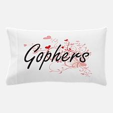 Gophers Heart Design Pillow Case