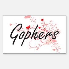 Gophers Heart Design Decal