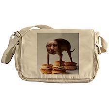 Brett dog burger stand Messenger Bag