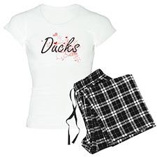 Ducks Heart Design Pajamas