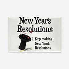 New Years Resolutions Rectangle Magnet