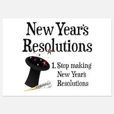 New Years Resolutions Invitations