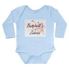 Burchell's Zebras Heart Design Body Suit