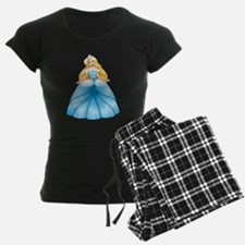 Blond Princess In Blue Dress Pajamas