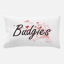 Budgies Heart Design Pillow Case