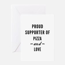 Pizza And Love Greeting Card
