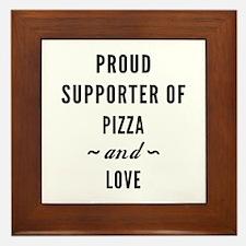 Pizza And Love Framed Tile