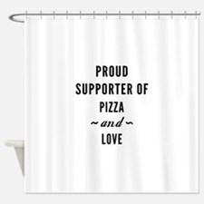 Pizza And Love Shower Curtain