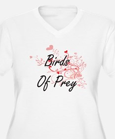 Birds Of Prey Heart Design Plus Size T-Shirt