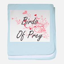 Birds Of Prey Heart Design baby blanket
