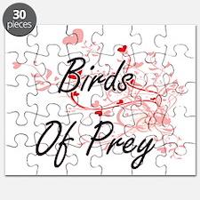 Birds Of Prey Heart Design Puzzle