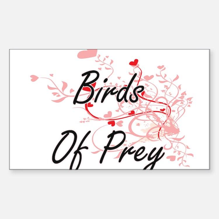 Birds Of Prey Heart Design Decal