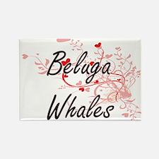 Beluga Whales Heart Design Magnets