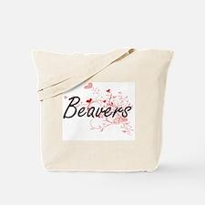 Beavers Heart Design Tote Bag