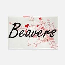 Beavers Heart Design Magnets