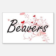 Beavers Heart Design Decal