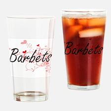 Barbets Heart Design Drinking Glass