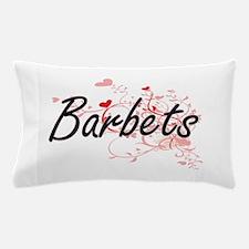 Barbets Heart Design Pillow Case