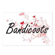 Bandicoots Heart Design Postcards (Package of 8)