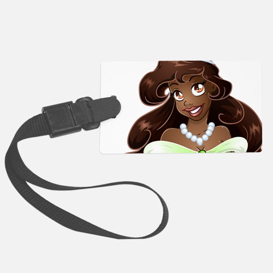 African Princess In Green Dress Luggage Tag