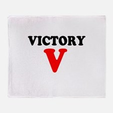 VICTORY V - Throw Blanket