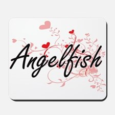 Angelfish Heart Design Mousepad